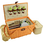 Picnic at Ascot Settler American Style Picnic Basket with Blanket