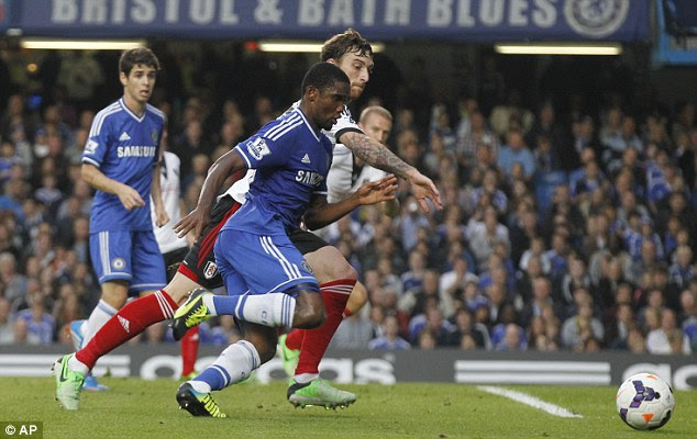 Drawing a blank: Samuel Eto'o again failed to find the mark for his new club