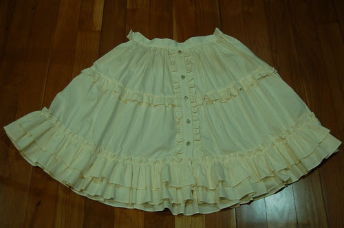 Lolita Closet Count! Skirts: Cream-Yellow - Dear Celine Cream Skirt - 60cm version