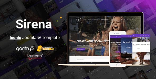 Sirena - Material Design Premium Joomla Template CMS Themes Theme