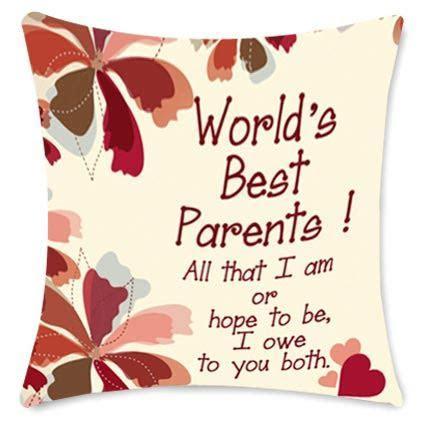 Worlds Best Parents cushion   Gift Worlds Best Parents