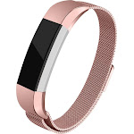 WITHit - Stainless Steel Mesh Band for Fitbit Alta and Alta HR - Rose Gold