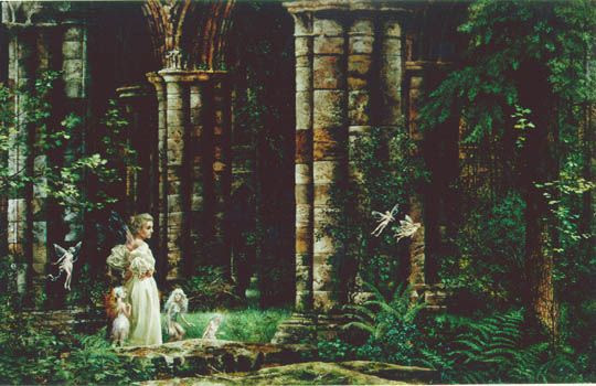 Queen Mab in Ruins - James Christensen. More at http://www.jameschristensen.com/prints.htm#prints