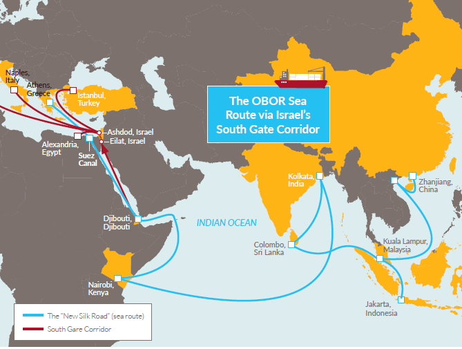 The Baloch House What Chinas New Silk Road Means For Israel - Us new silk road map