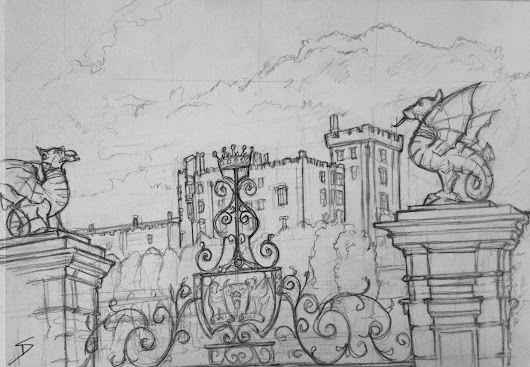 Quick Sketch – Powys Castle, Welshpool.