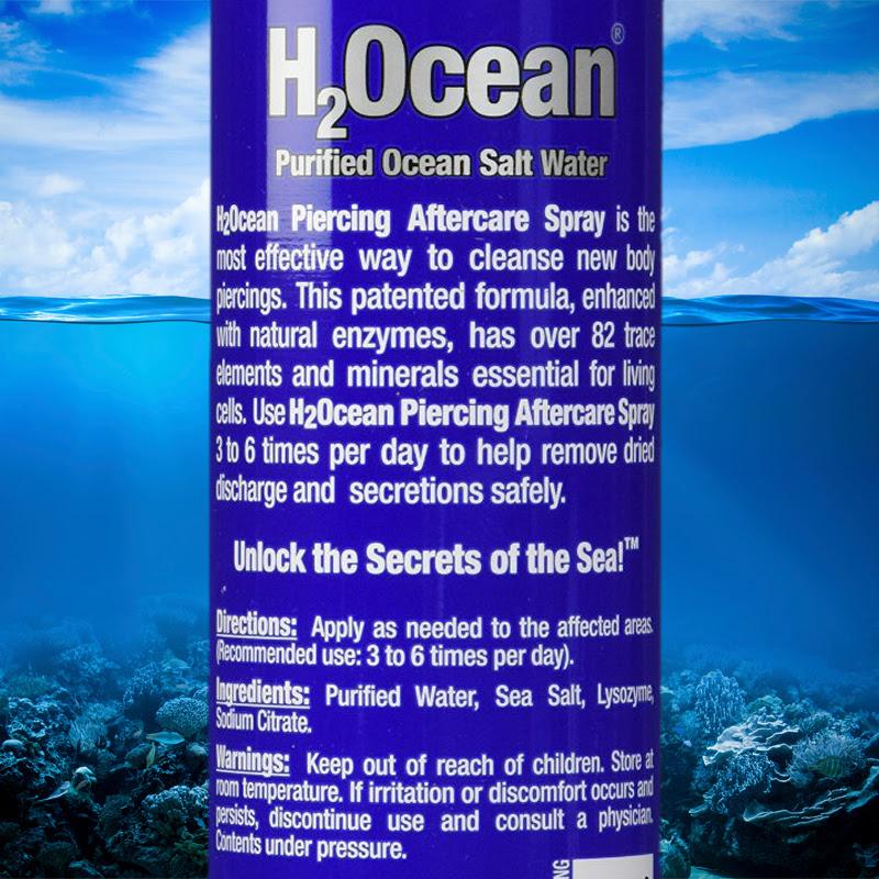 H2ocean Piercing Aftercare Spray 4 Ounce