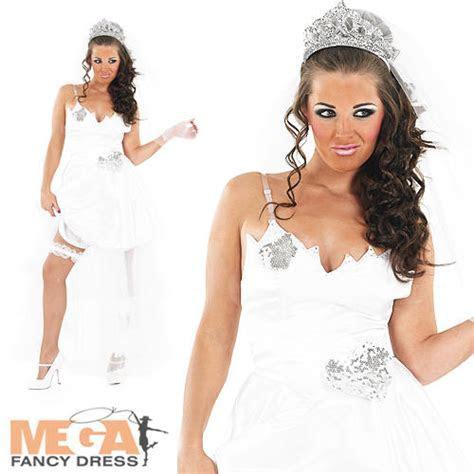 Big Fat Gypsy Bride White Wedding Fancy Dress Ladies Hen