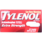 Tylenol Extra Strength Pain Reliever Fever Reducer Caplets, 500 mg - 24 count