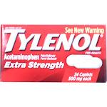 Tylenol Pain Reliever/Fever Reducer, Extra Strength, 500 mg, Caplets - 24 caplets