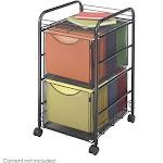 Safco Onyx Mesh File Cart - Trolley - 2 drawers - steel - black