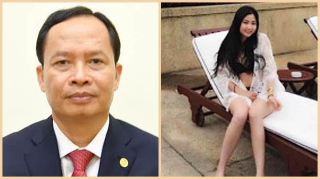 Image result for Ông Trịnh Văn Chiến (trái) và cô bồ nhí trẻ trung xinh đẹp của mình.