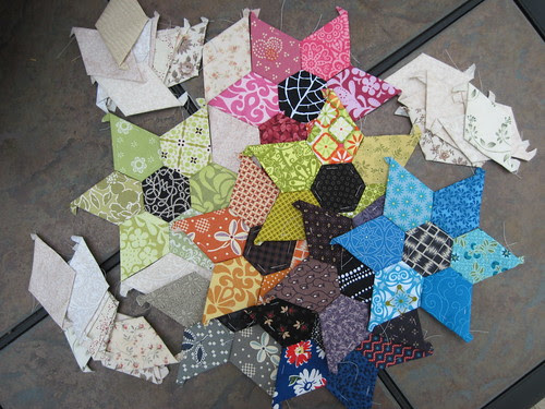Jewel Star Pillow Progress