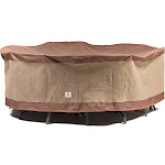 """Duck Covers Ultimate 90"""" Round Patio Table with Chairs Cover"""
