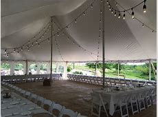 Rope and Pole tent with bistro lights. Contact ABC Rentals Special Events to get more