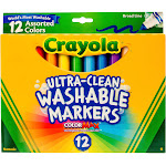 Crayola - Marker - non-permanent - assorted colors - broad - pack of 12