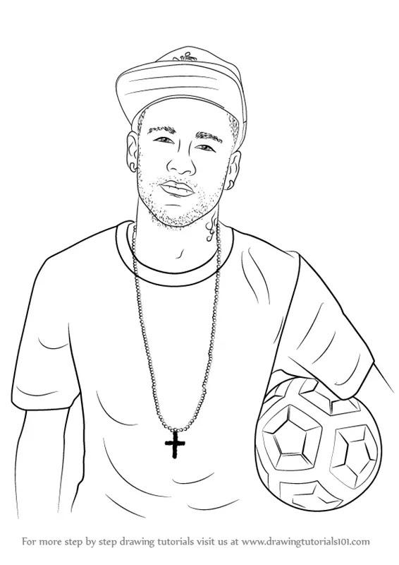 how to draw Neymar Jr step 0
