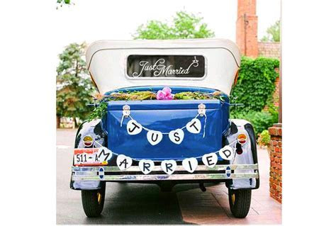 Top 10 Best Just Married Wedding Car Decorations   Heavy.com