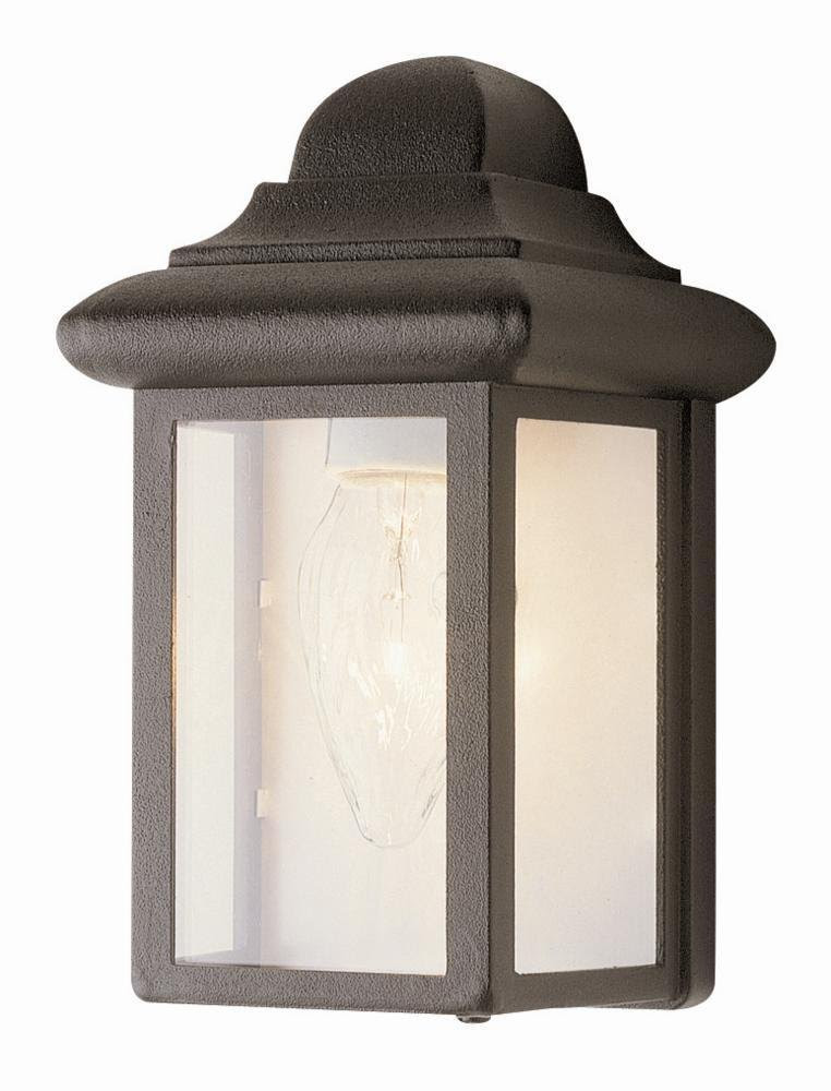 Trans Globe Lighting 44835 BK 8-1/2-Inch 1-Light Outdoor Mini Wall ...
