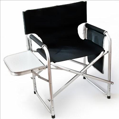 chaise de camping avec table rabattable et sac 47 x 57 x 79 cm mobilier de camping chaises. Black Bedroom Furniture Sets. Home Design Ideas