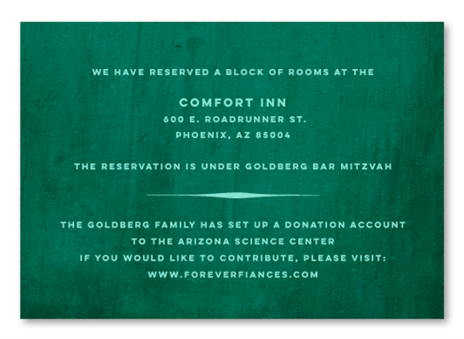 Country Green Insert Card