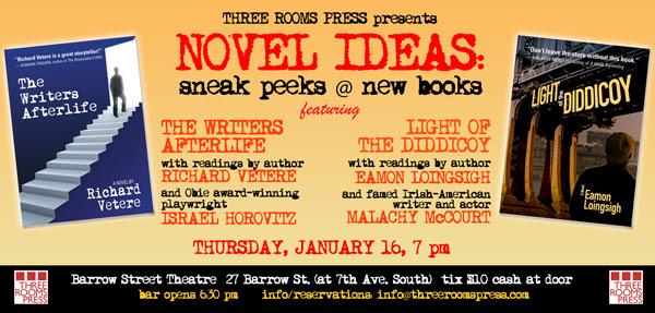 Novel Ideas at Barrow Street Theatre feat. Israel Horovitz, Malachy McCourt, Richard Vetere and Eamon Loingsigh