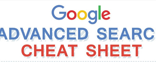 Google Advanced Search Operators Cheat Sheet [Infographic]