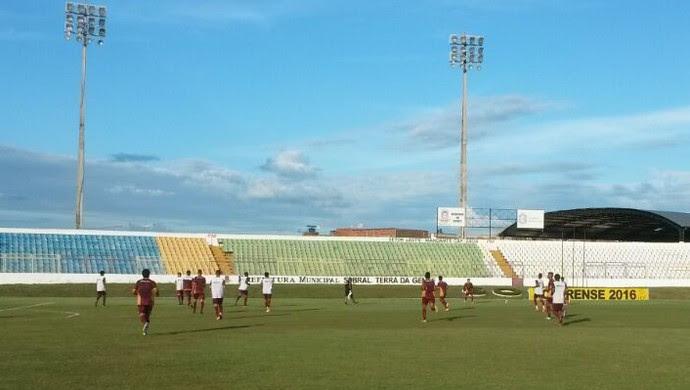 Guarany de Sobral, treino (Foto: Caio Ricard/TV Verdes Mares)