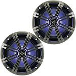 "6.5"" Speakers - Charcoal/White Kicker 43KM654LCW"