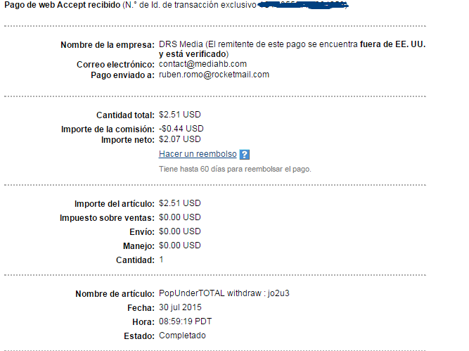 popundertotal payment proof