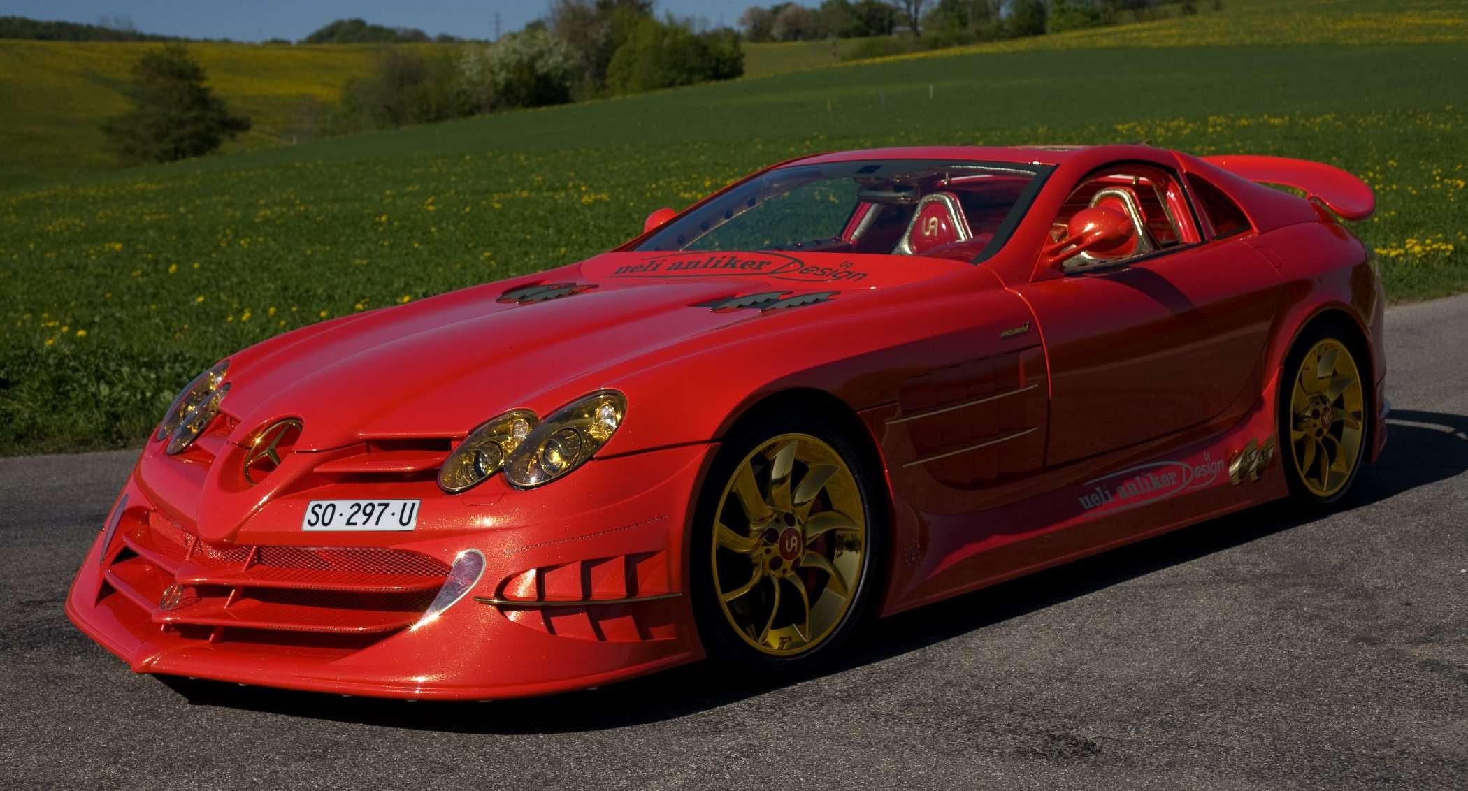 """POWER CARS: Mercedes-Benz SLR McLaren """"999 Red Gold Dream ..."""