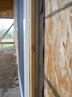 Side View of Screen Door Frame