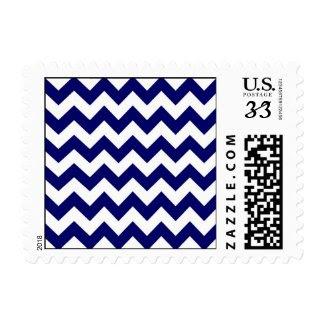 Navy and White Zigzag Stamp