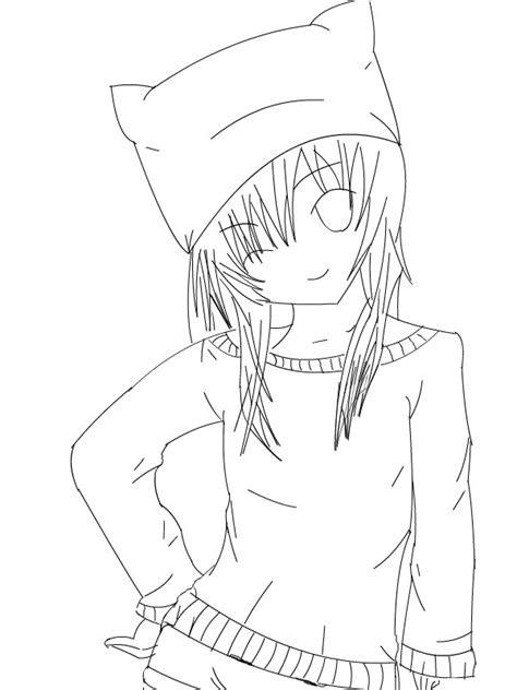 draw  anime cat   clip art