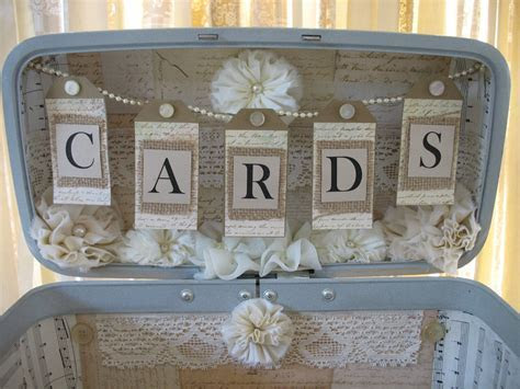 Vintage Suitcase Wedding Card Box Wedding Card Holder Wedding