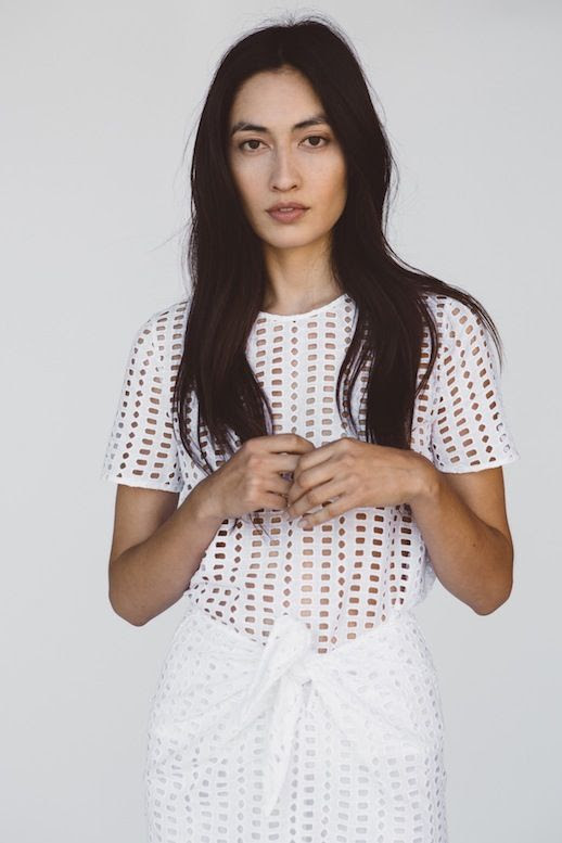 Le Fashion Blog Jenni Kayne Resort 2016 White Eyelet Cut Out Look Via Style Com