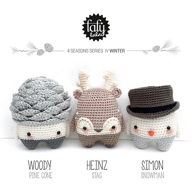 Patron de crochet Lalylala 4seasons IV WINTER par Lydia Tresselt