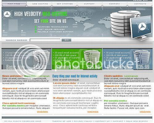 Hosting Company Blue Fkash Website Template