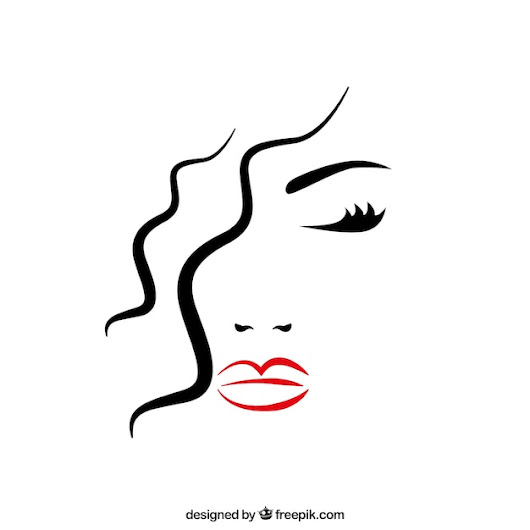 Beautiful woman's face with closed eyes