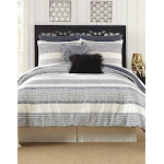 Deco Stripe Comforter Set Presidio Square Size: King