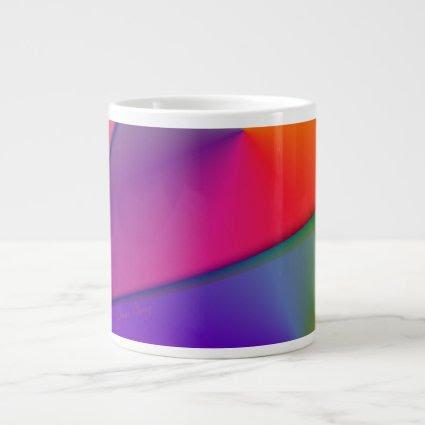 Rainbow Origami – Indigo & Magenta Swirls Jumbo Mug