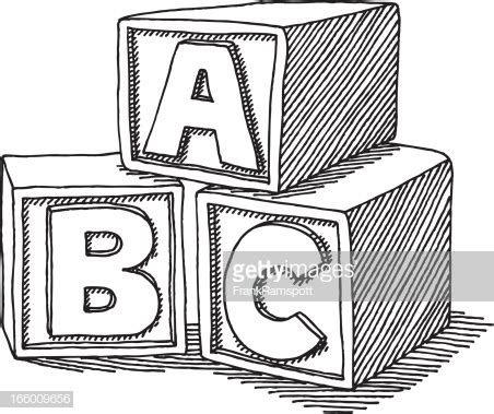 education abc blocks drawing vector art getty images
