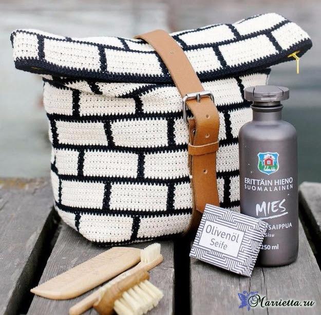 White bricks on the bag.  Crochet (2) (625x614, 390Kb)