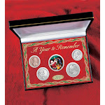 Colorized Santa Claus Half Dollar Coin Set