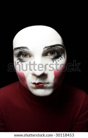 clown faces makeup. clown a clown-face makeup