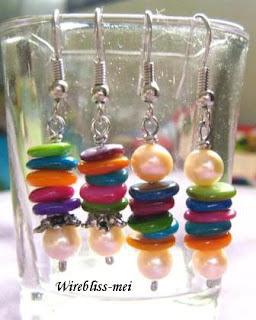 Fun Colorful shell Earrings