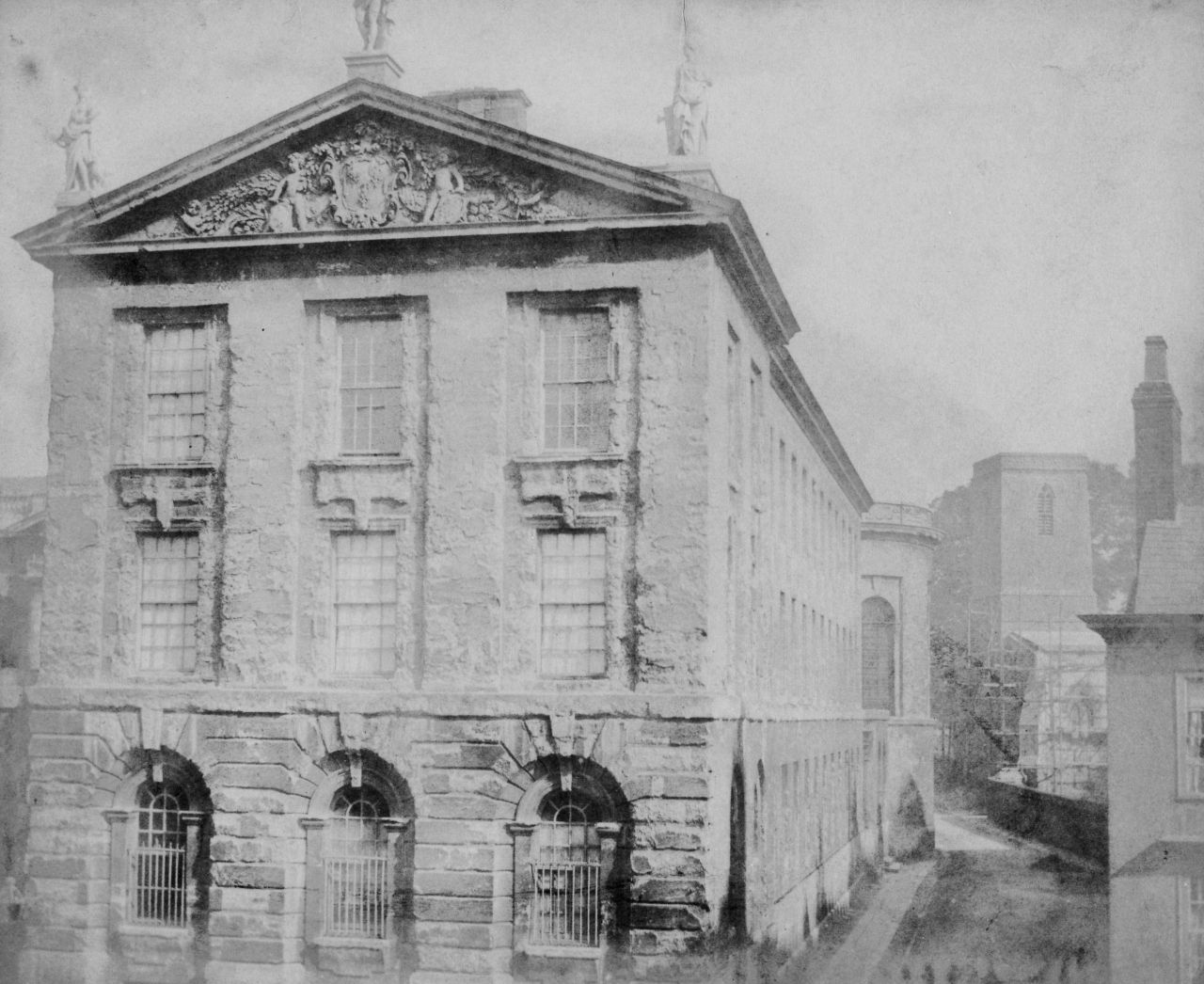 William Henry Fox Talbot: Part of Queens College, Oxford, September 1843