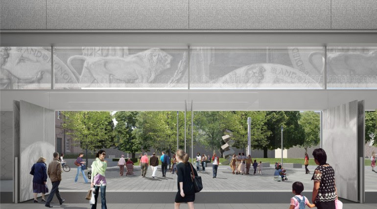 Woolwich Station - architects impression of proposed urban realm_153775