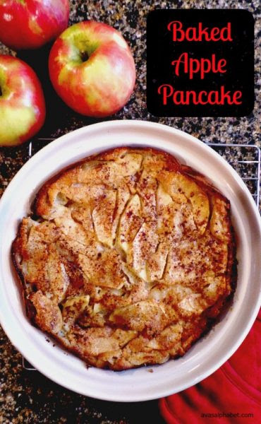 Baked Apple Pancake-Ava's Alphabet