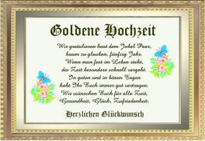 Verse Goldene Hochzeit