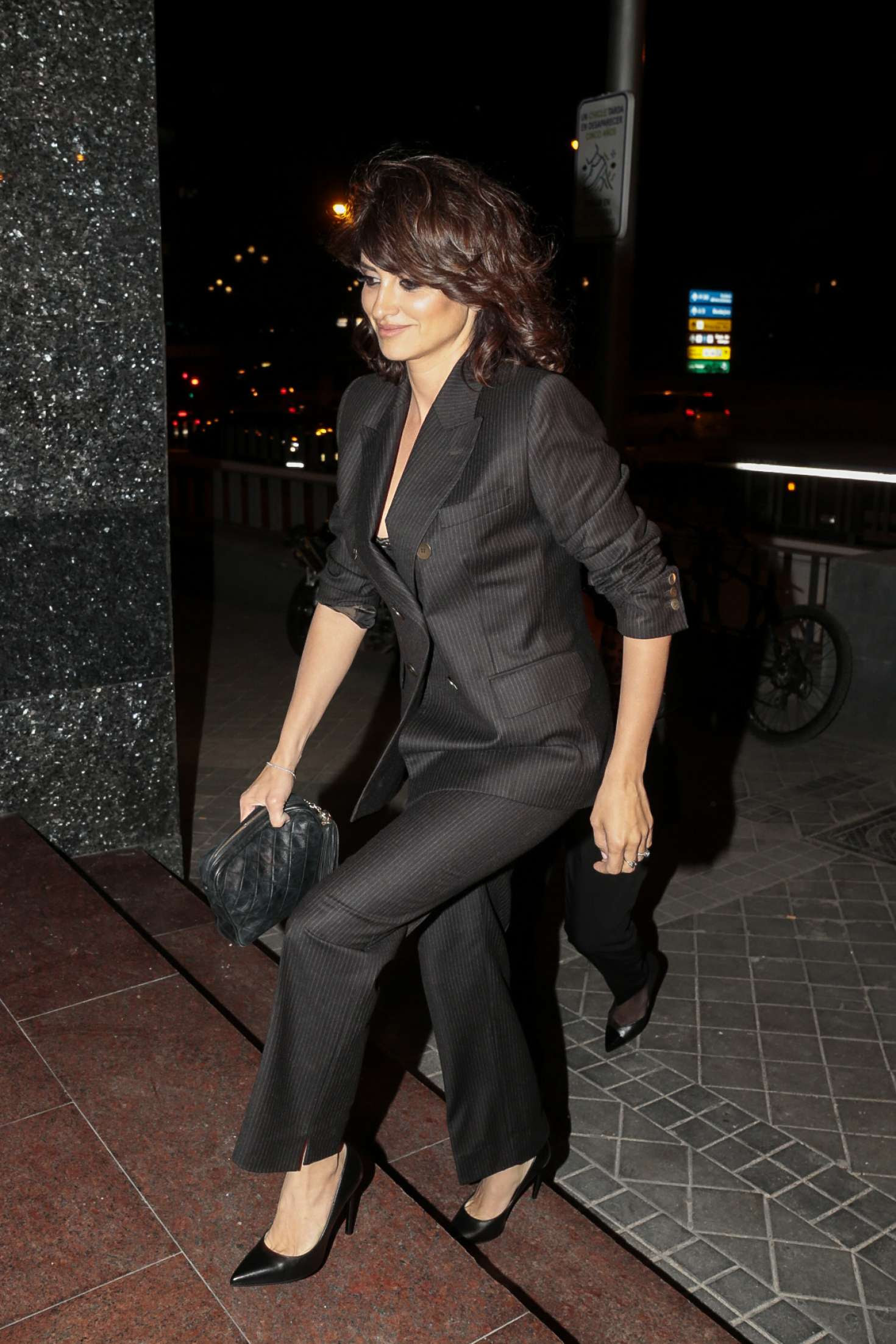 Penelope Cruz at Monica Cruz's 40th birthday in Madrid